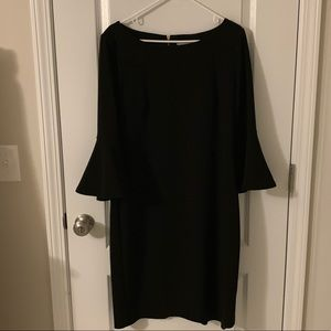 Very Dressy Little Black Dress with Bell Sleeve